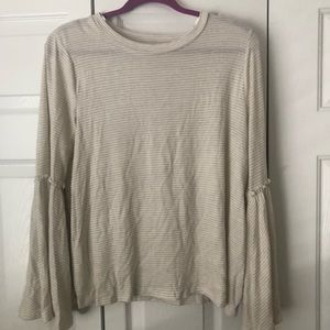 NWT LC Lauren Conrad Striped Bell Sleeve shirt